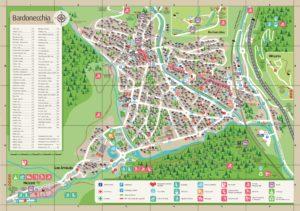 Bardonecchia cartina toponomastica e guida all'ospitalità