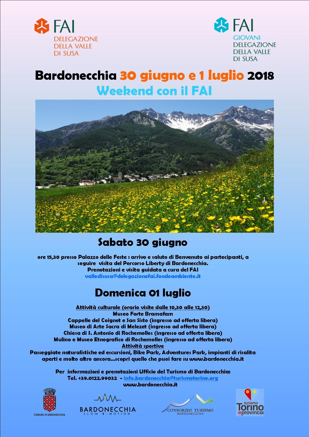 Bardonecchia Newsletter dal 25 giugno al 1° luglio 2018