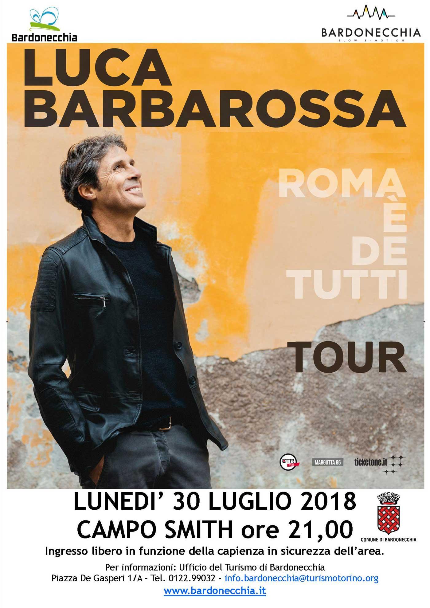 Luca Barbarossa in tour a Bardonecchia