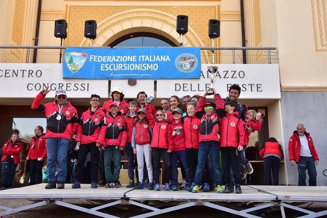Lo sci club Bardonecchia, vincitore della classifica per associazioni Foto Stefano Duetta