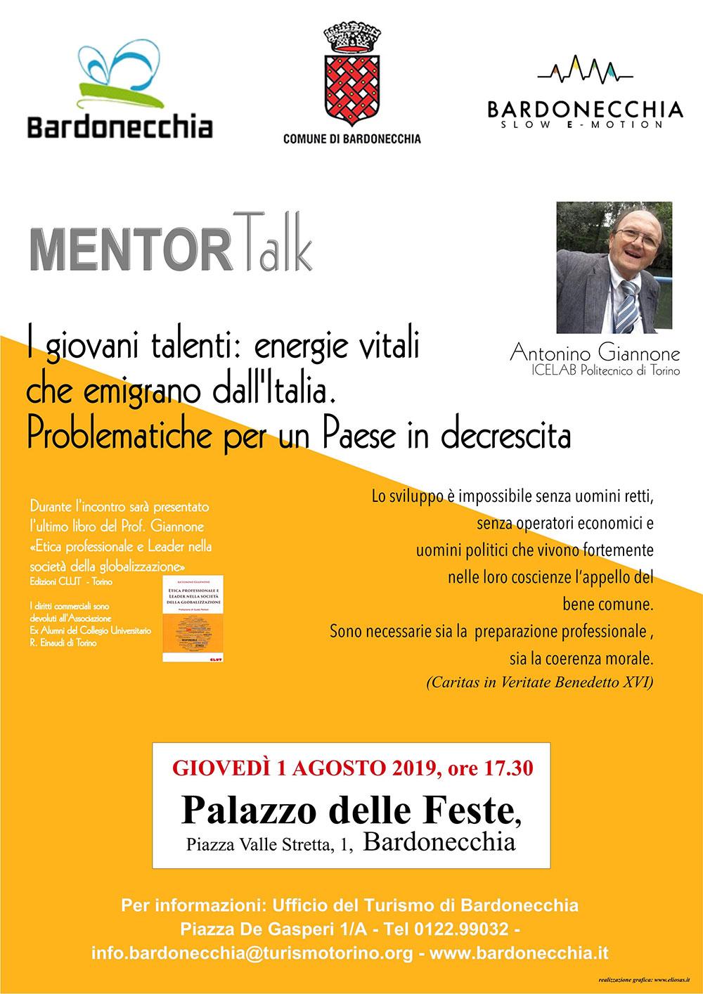 I giovani talenti: conferenza del professor Antonino Giannone