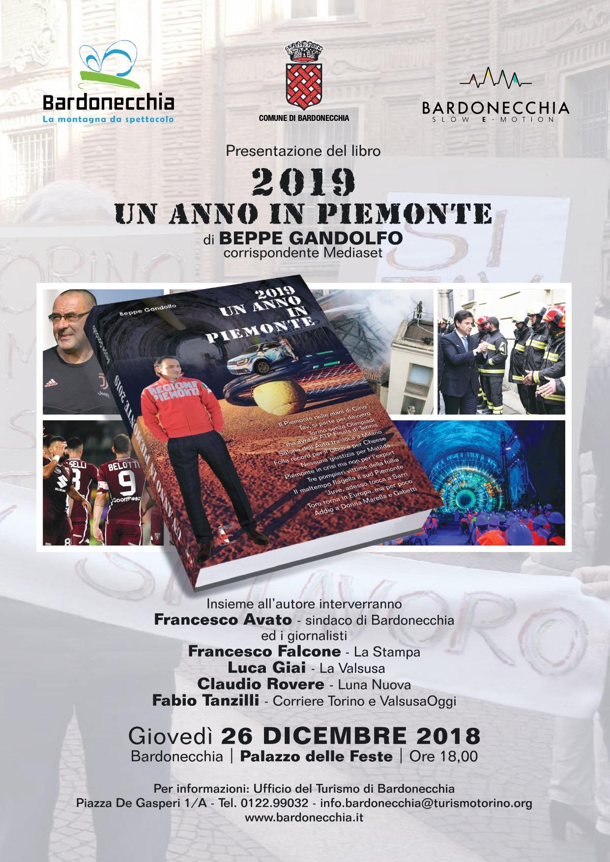 """PRESENTAZIONE DEL LIBRO """"UNA ANNO IN PIEMONTE 2019"""""""