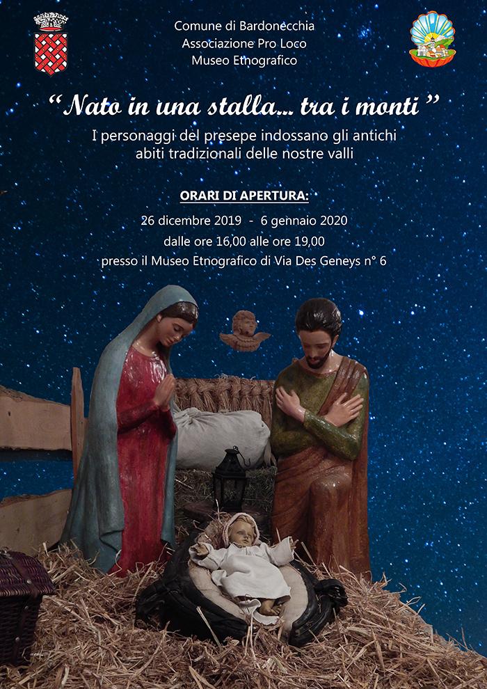 """Apertura del Museo Civico Etnografico con il presepe """"Nato in una stalla... tra i monti"""""""