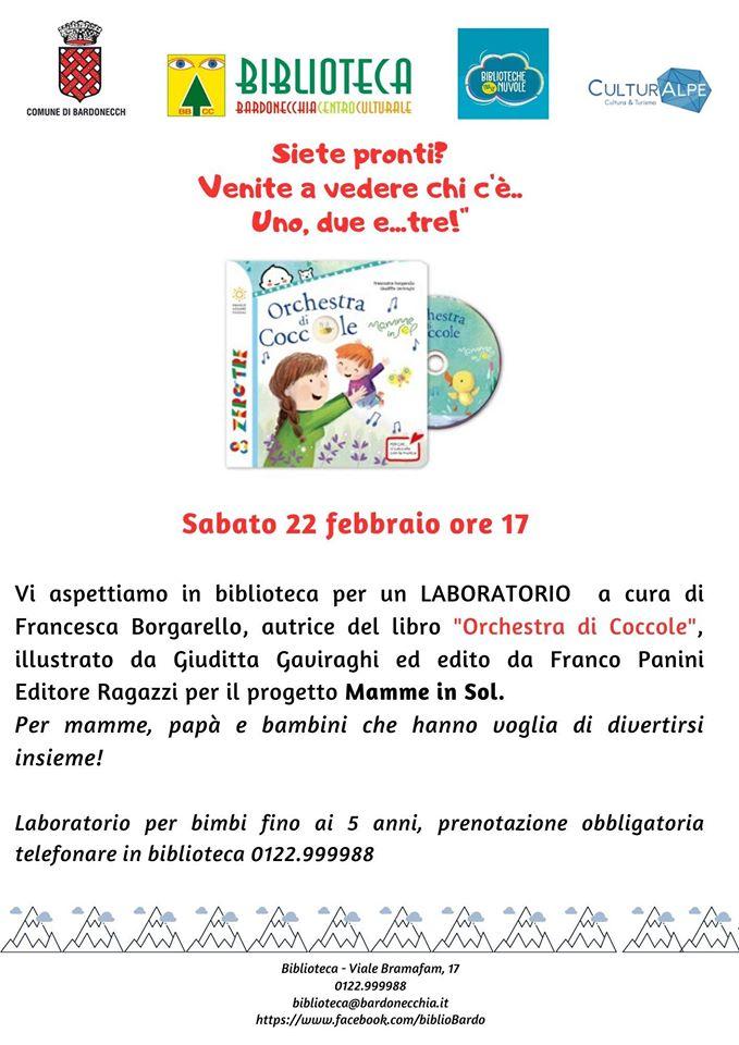 BARDONECCHIA - LABORATORIO IN BIBLIOTECA CON FRANCESCA BORGARELLO