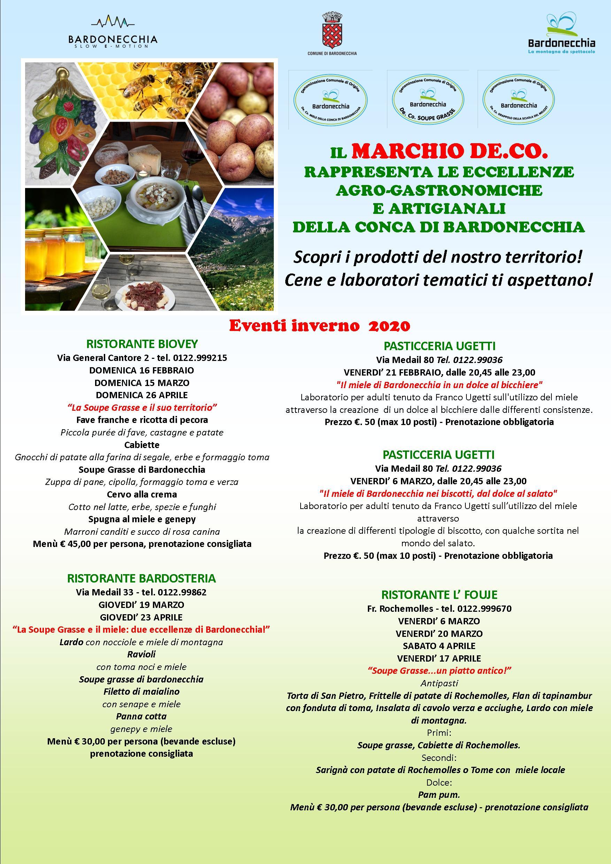 Marchio DE.CO. - Calendario Eventi Inverno 2020