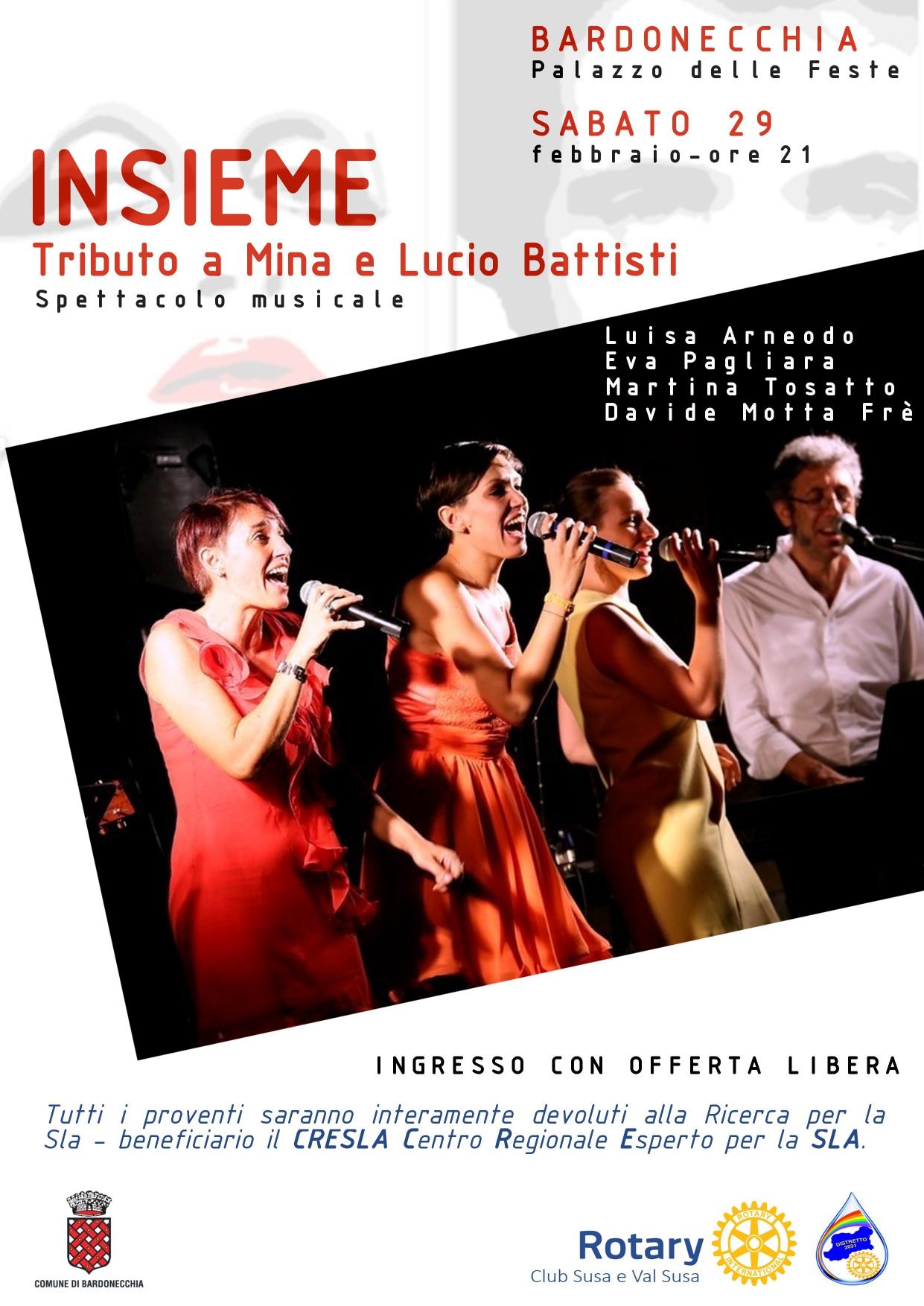 """Locandina Evento """"Insieme"""": Tributo a Mina e Lucio Battisti"""