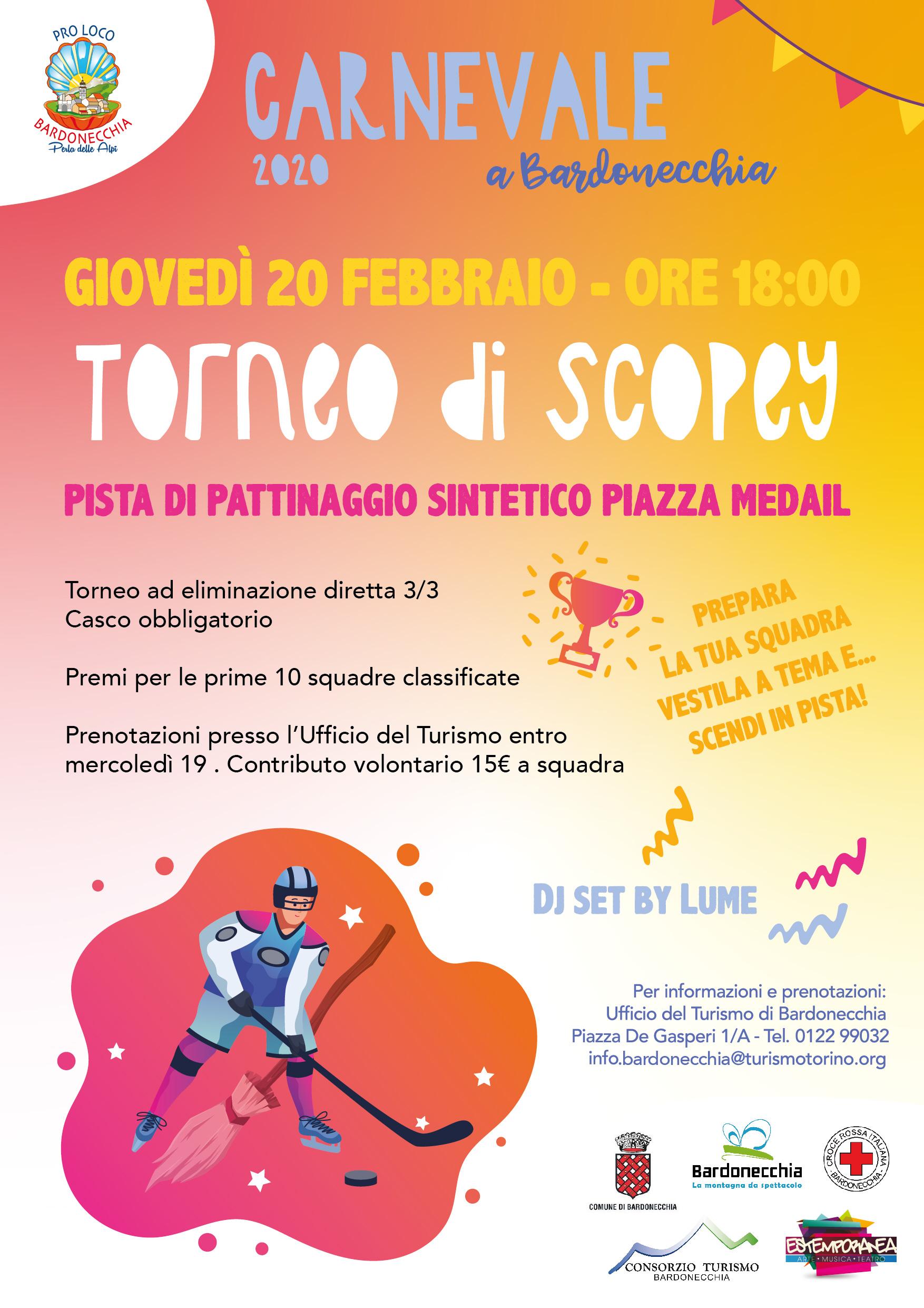 Carnevale Bardonecchia 2020 - 20 febbraio - Torneo di Scopey