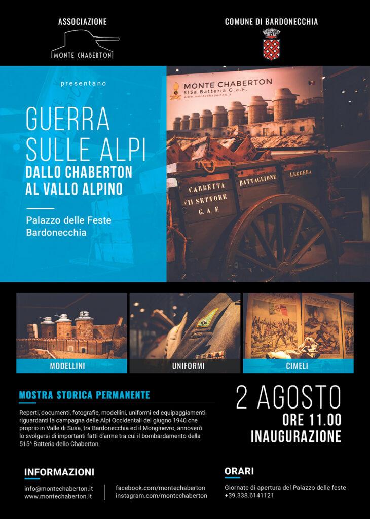 Inaugurazione Mostra GUERRA SULLE ALPI DALLO CHABERTON AL VALLO ALPINO