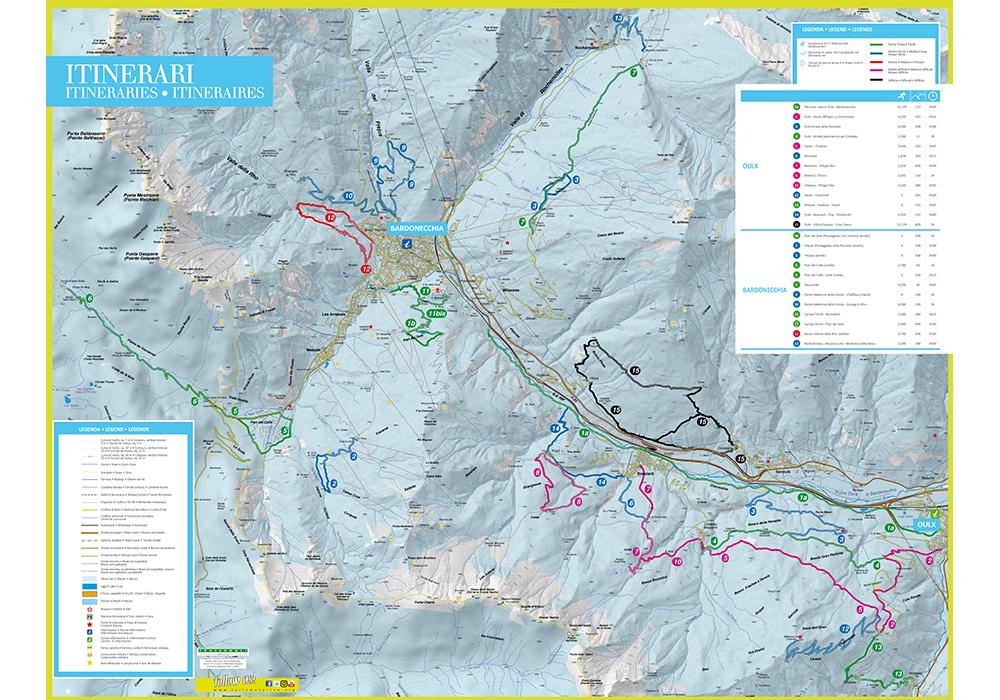 Itinerari e percorsi a Bardonecchia: trekking, ciaspole