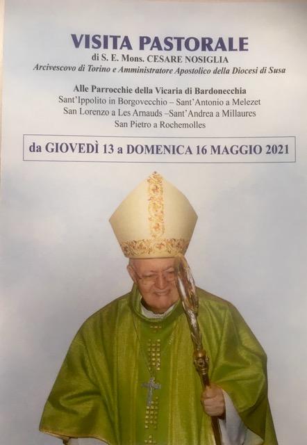 S.E. MONSIGNOR CESARE NOSIGLIA IN VISITA PASTORALE  ALLE PARROCCHIE DELLA VICARIA DI BARDONECCHIA
