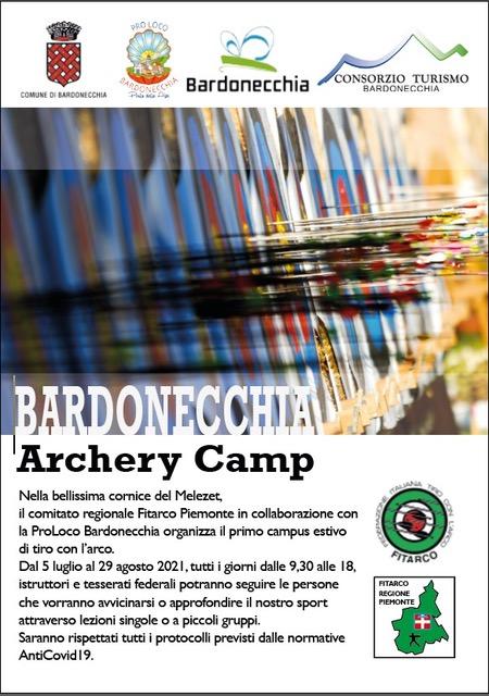 DAL 5 LUGLIO AL VIA IL BARDONECCHIA ARCHERY CAMP